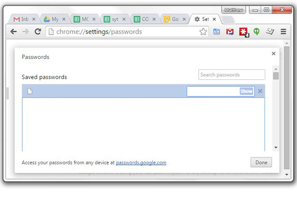 view your saved google chrome passwords