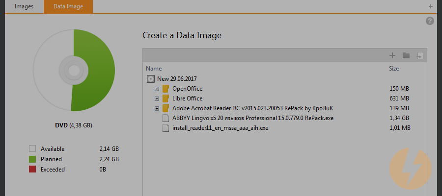 How to create an ISO image from files, using DAEMON Tools Ultra