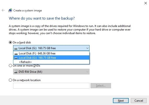 How to Make a Full System Image Backup on Windows 10