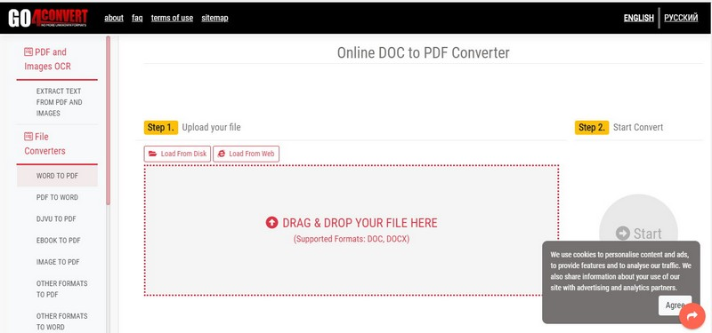 online4convert doc to pdf