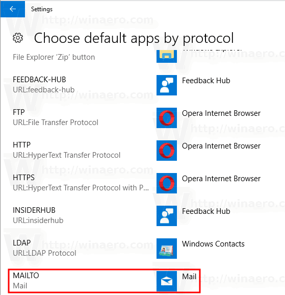 Windows 10 Select Defaults Apps By Protocol